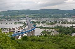 Flood in Prague Stock Images