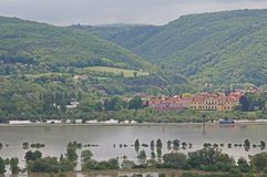 Flood in Prague Stock Photography