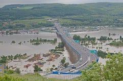 Flood in Prague. Flood on the river Vltava in Prague, Czech republic stock photo