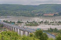 Flood in Prague. Flood on the river Vltava in Prague, Czech republic stock images