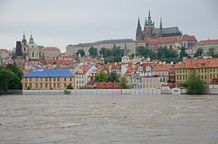 Flood in Prague Stock Photos