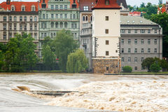 Flood in Prague Stock Image