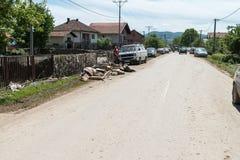 Flood in 2014 - Pridijel - Bosnia And Herzegovina Stock Photo