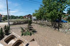Flood in 2014 - Pridijel - Bosnia And Herzegovina Royalty Free Stock Images