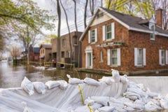 Flood Protection Sandbags royalty free stock photography