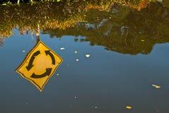 Flood in rainy season. Royalty Free Stock Photo