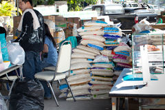 Flood relief supply Royalty Free Stock Image