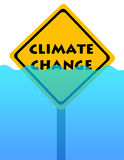 Flood. Rising water because of global warming and climate change Stock Images