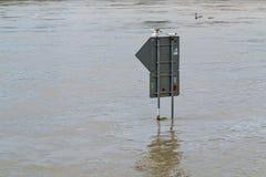 Flood river Vltava Prague Czech republic june 2013 Stock Image