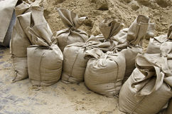 Flood, the sandbags royalty free stock photography