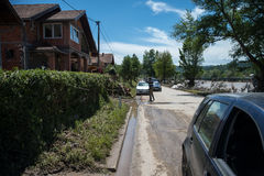 Flood in 2014 - Sevarlije - Bosnia And Herzegovina Stock Image