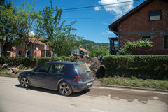 Flood in 2014 - Sevarlije - Bosnia And Herzegovina Royalty Free Stock Photos