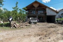 Flood in 2014 - Sevarlije - Bosnia And Herzegovina Stock Photo