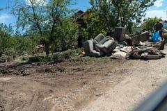 Flood in 2014 - Sevarlije - Bosnia And Herzegovina Stock Image