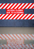 Flood sign Royalty Free Stock Photography