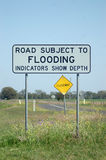 Flood sign Royalty Free Stock Photo