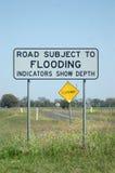 Flood sign Royalty Free Stock Photo