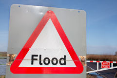 Flood Sign Warning by Flood Stock Photos