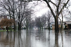 Flood. In Small American Town royalty free stock photo