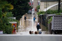Flood in Sochi. July 2016 Royalty Free Stock Photo