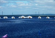 Flood. Tents sunk during the flood Stock Photos