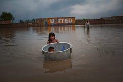 Flood in thailand Royalty Free Stock Photos