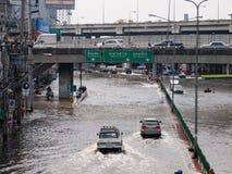 FLOOD THAILAND 2011. Flood situation in Bangkok , Thailand 2011 Stock Photo