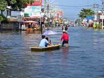 Flood in Thailand Stock Photos