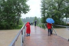 Flood tourism Stock Image