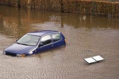 Flood. In the town Holstebro, Denmark Royalty Free Stock Image