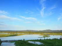 Flood. The valley of the Ingoda river during the flood royalty free stock photography