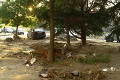 After flood in Varna Bulgaria June  Stock Images