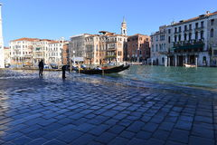 Flood in Venice Stock Photo