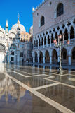 Flood in Venice Royalty Free Stock Photography