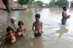 Flood Victims Stock Photography