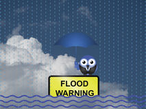 Flood warning Royalty Free Stock Photography