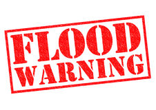 FLOOD WARNING Stock Photo