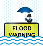 Flood warning sign Royalty Free Stock Images