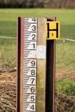Flood Water Level Measurement Gauge Marker Royalty Free Stock Images