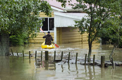 Flood Waters Cover New Zealand Stock Photography
