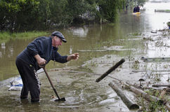 Flood Waters Cover New Zealand Stock Photos