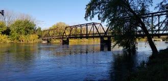 Flood waters Iowa royalty free stock photography