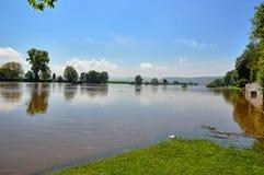 Flood on the Weser Stock Photos