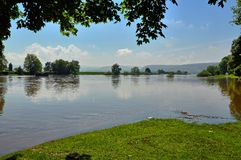 Flood on the Weser Royalty Free Stock Photo
