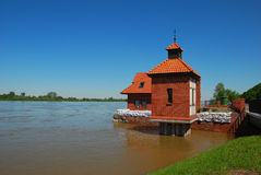 The flood at Wisla river Stock Photos