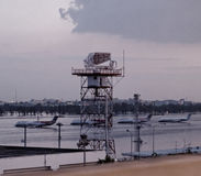 Flooded airport - Thailand stock images