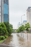 Flooded Alley Royalty Free Stock Photography