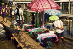 Flooded area of Bangkok Chatuchak Royalty Free Stock Images