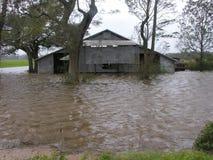 Flooded Barn Royalty Free Stock Photos