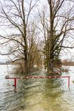 Flooded barrier Royalty Free Stock Photos